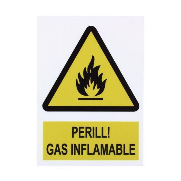 CARTELL PERILL GAS INFLAMABLE